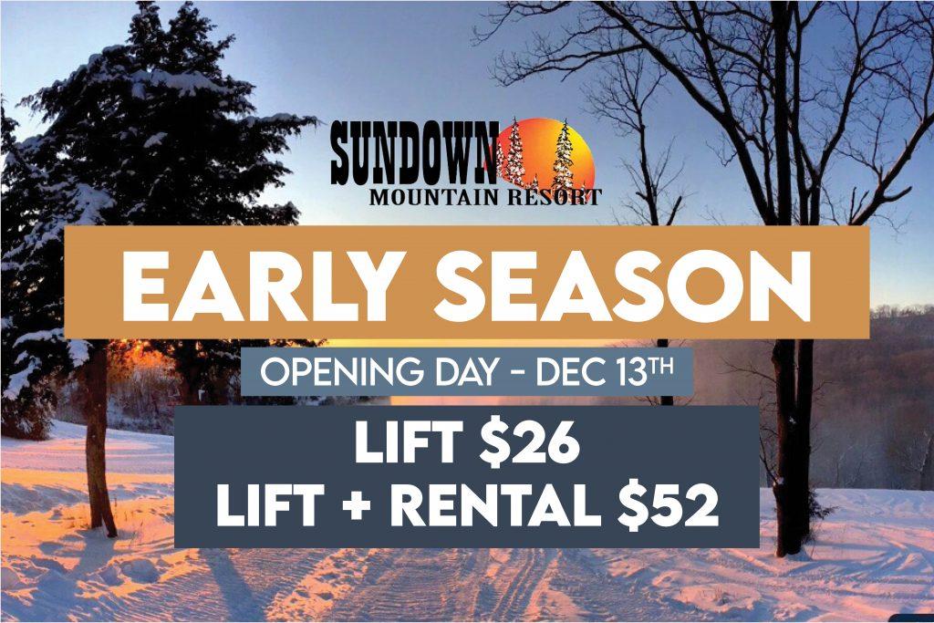 Early Season Discount Sundown Mountain