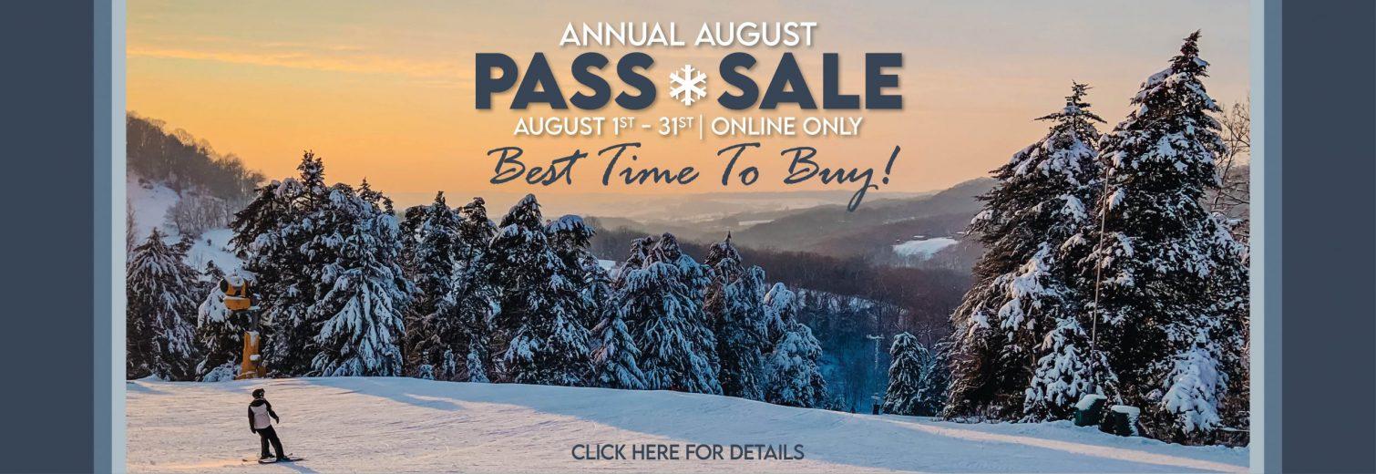 Sundown Mountain Annual August Pass Sale